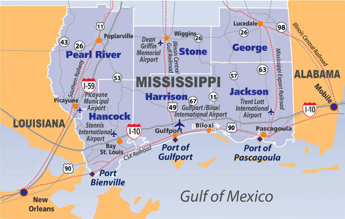Map Of Mississippi Gulf Coast Map Room Map Of Mississippi Gulf Coast